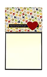 Caroline\'s Treasures Dogs leave paw prints on your heart Refillable Sticky Note Holder or Postit Note Dispenser, 3.25 by 5.5\