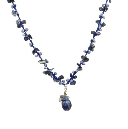 Hanoverian Blue Stone and Bead Necklace