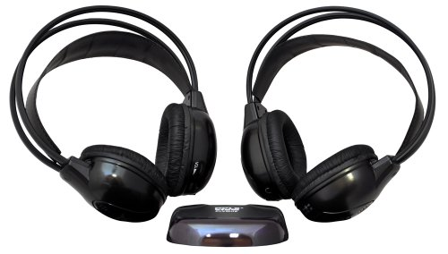 Pyle Plvwh6 Dual Wireless Ir Mobile Video Stereo Headphones With Transmitter