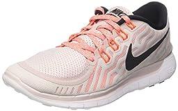 Nike Women\'s Free 5.0 Violet Ash/Blk/White/Hypr Orng Running Shoe 7 Women US