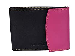 Butterflies Womens Wallet (Black and Pink) (BNS 2099)