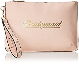 Aldo Contrell Clutch, Blush, One Size