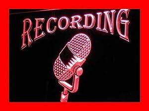 Recording On The Air Radio Studio LED Sign Night Light i206-r(c)