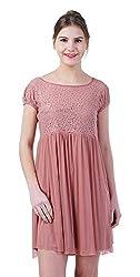 merch21 Women's Dress (MERCH-395-PUCE, Pink, Medium)