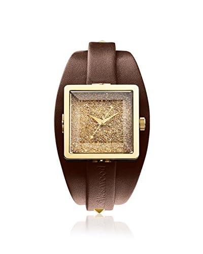 Vivienne Westwood Women's VV008GDBR Cube Brown/Gold Stainless Steel Watch