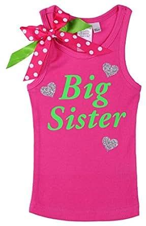 Amazon.com: Bubblegum Divas Little Girls' Big Sister Shirt