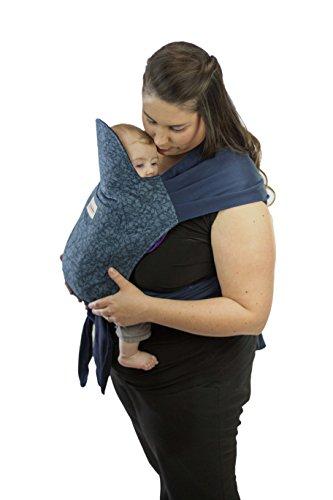 Maman Kangourou Asiatik Mei Tai Soft Baby Carriers, Bilberry - 1
