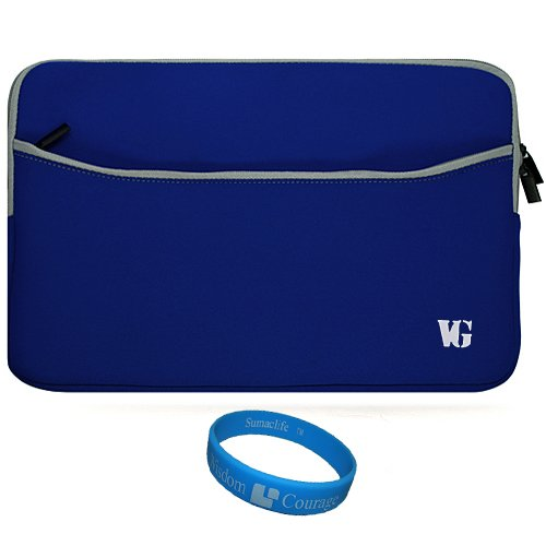Dispirited SumacLife Scratch Resistant Neoprene Sleeve Watchful Carrying Case Cover for Pandigital Star 7-inch Media Android Tablet + SumacLife TM Clear-sightedness Courage Wristband