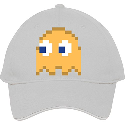 High Quality Genevphilli Baseball Caps For Male/female Outdoor Activity Orange Pixel Man Halloween Ghost Easy Costume 3 Of 4 Cotton