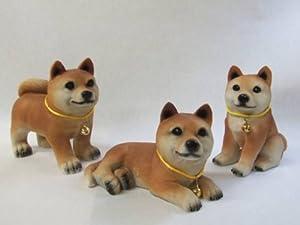 豆柴犬/3種類セット超かわいい樹脂製