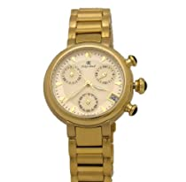 Oskar Emil Syracuse Gold Plated Chronograph With Date Unisex Stainless Steel Watch