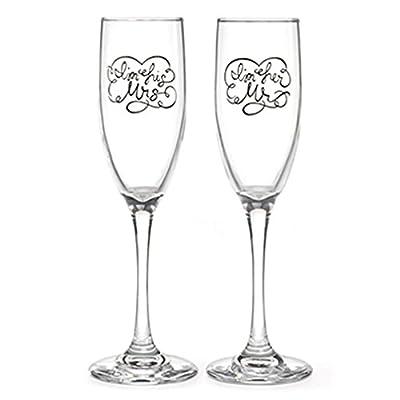 Hortense B. Hewitt Wedding Champagne Toasting Flutes, Set of 2