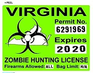 Virginia va zombie hunting license permit for Virginia fishing license online