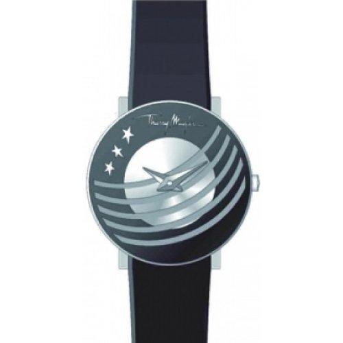 Thierry Mugler - 4721303 - Montre Femme - Quartz Analogique - Cadran Blanc - Bracelet Métal Noir