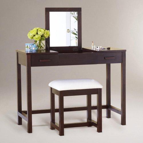 Dark Mahogany Chase Vanity Table - World Market