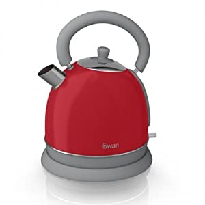 Swan Kitchen Appliance Retro Set - Red Dome Kettle & Red 4 Slice Toaster Set from Swan