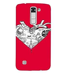PrintVisa Heart Tattoo Art Design 3D Hard Polycarbonate Designer Back Case Cover for LG K7