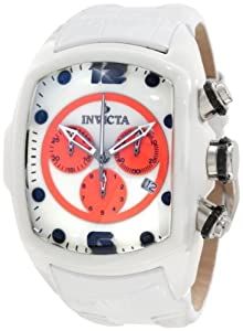 Invicta Men's 10283 Lupah Chronograph White Dial White Leather Watch at Sears.com