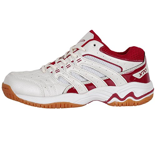 XPD Professional Sports Shoes, Scarpe da pallavolo donna Bianco weiß/créme/rot