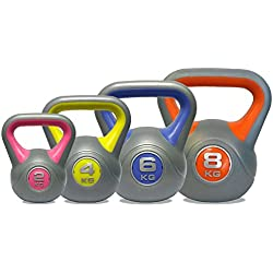DKN Vinyl Kettle Bell Weight Set - Multicolour, 2 - 8 kg