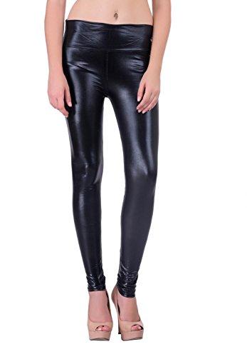 AMNOR-Partywear-Skinfit-Black-Shinny-Leather-Legging-for-Women