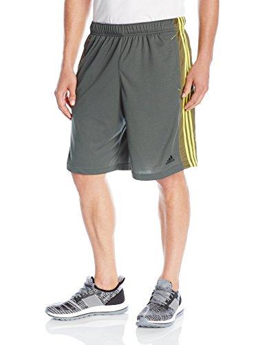adidas Men's Training Essential Shorts, Utility Ivy/Shock Slime, Medium Adidas Mens Climalite Short