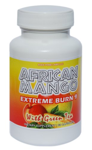 African Mango Extreme Burn 9-African Mango 150mg Natural Appetite Supressant Weightloss Formula with Geen Tea Extract, 60 Capsules, Dr Oz African Mango Feature