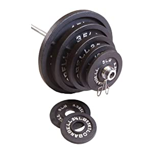 CAP Barbell 35 lb Black Olympic Weight Plate