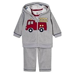 Product Image Newborn Boys' Just One Year 3pc Firetruck Set - Gray