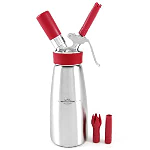 iSi Professional Brushed Stainless Steel Gourmet Whip Cream Whipper, 1 Pint