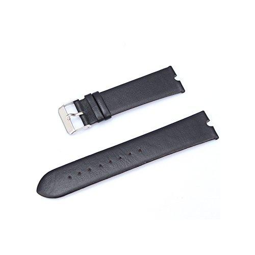 Japace® 22mm Orologio da Polso Leather Watch Strap Band in Pelle Vacchetta Cinturino per Motorola Smartwatch Moto 360 - Nero