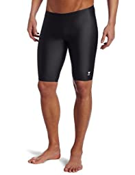 TYR Sport Men's Solid Jammer Swim Suit,Black,32