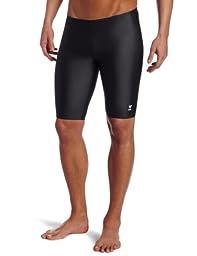 TYR Sport Men's Solid Jammer Swim Suit,Black,30