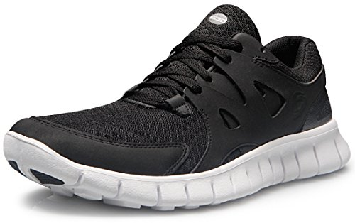 TF-E630-BLK_255 Men 7.5 D(M) Tesla Men's Lightweight Sports Running Shoe E630