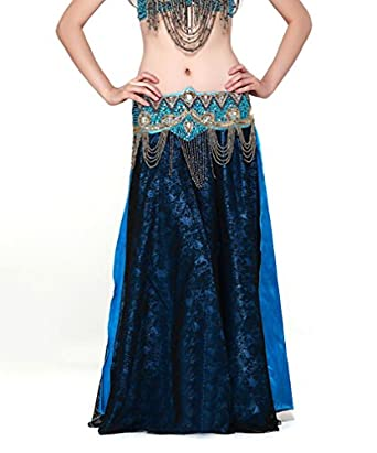 Belly Dance Chiffon Maxi Skirt Dress, Big Hem Performace Halloween Dancing Costume