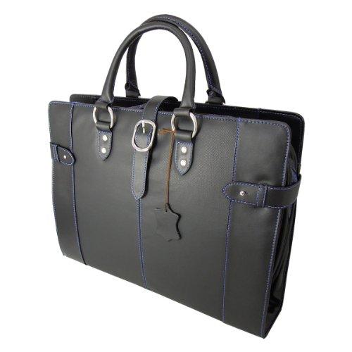 DIABLO ビジネスバッグ KA-2090 牛革 メンズ 鞄 【黒×青】