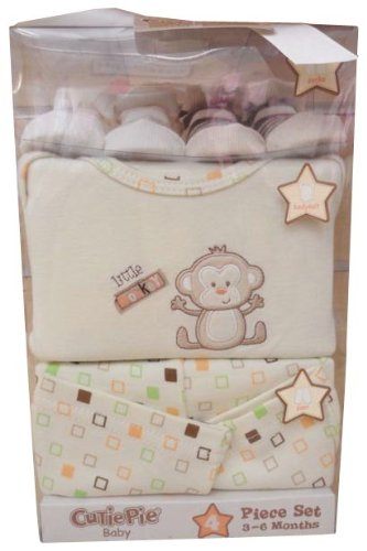 Cutiepie 4 Piece Box Set, Cute Monkey