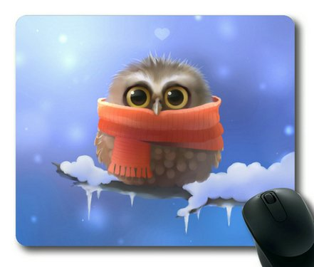 Cute Owl Sakuraelieechyan Rectangle Mouse Pad front-1017302