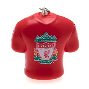 Liverpool F.C. Stress Shirt Bag Charm- novelty bag charm- shirt shape metal clip- approx 7cm x 7cm x 3cm- on a header card- Official Football Merchandise by Bag Charms