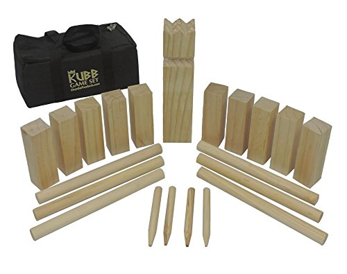 Kubb-The-Viking-Wooden-Outdoor-Lawn-Game-Set-One-2-34-x-12-King-Ten-175-x-6-Kubb-Blocks-Six-1-Diameter-x-12-Long-Batons-Four-Corner-Markers-with-Carrying-Bag