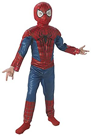 Amazon.com: Baoer The Amazing Spider-man 2, Deluxe Spider-man Costume, Child Small Small Red ...