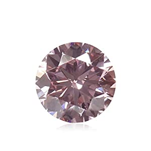 0.48Cts Fancy Purplish Pink Loose Diamond Natural Color Round Cut GIA Certified