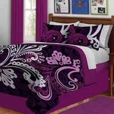 Eclipse Complete Bed In A Bag Purple Swirl Twin