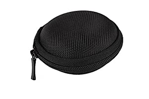 niceeshop(TM) Hard Clamshell Waterproof Headset Hard Case With Zipper Closure,Black