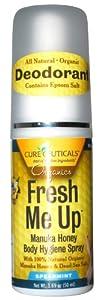 Cureceuticals Fresh Me Up Deodorant Manuka Honey Body Hygiene Spray - Spearmint, 1.69-Ounce