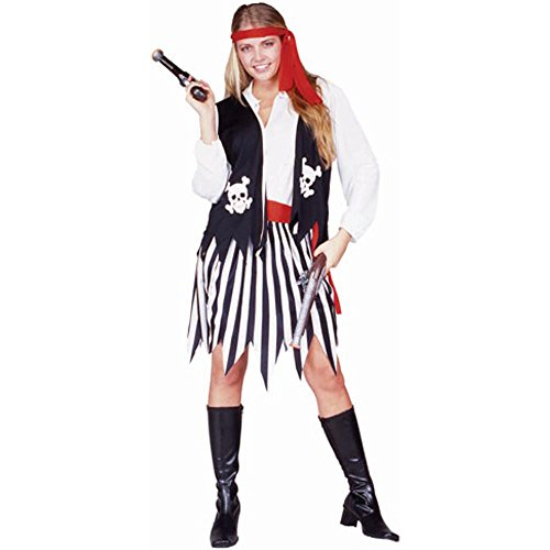 Adult Pirate Lady Halloween Costume (Size: Standard 8-12)