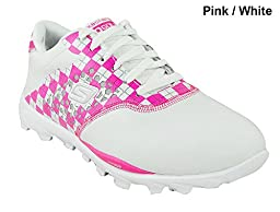 Skechers Performance Women\'s Go Golf Shoe,White/Pink,7.5 M US