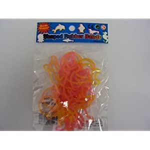 Tie Dye Ocean Shaped Bandz Shaped Rubber Bands Bracelets 12 pack