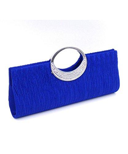 DAYAN sera Wedding Party Clutch Purse Wallet Borsa E Fashion Bag,blu
