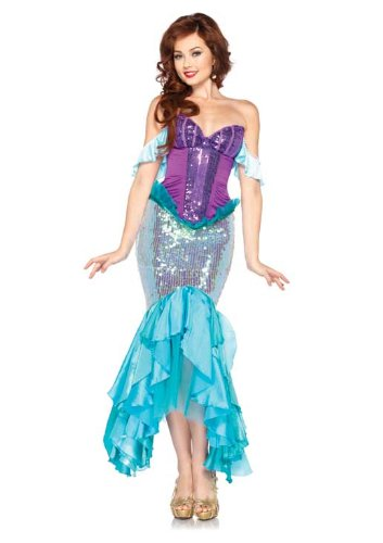Halloween 2017 Disney Costumes Plus Size & Standard Women's Costume Characters - Women's Costume CharactersLeg Avenue Disney 3 Pc. Deluxe Ariel Includes Corset Straps and Skirt